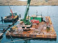 Bagheera towing and mooring barge for Tulloch Developments